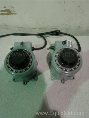 Lot of 2 Powerstat 3PN116C Variable Autotransformers