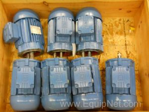 Unused or Rebuilt WEG 1HP Motors Lot of 7