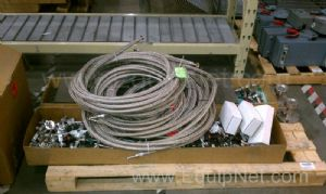 Skid of Miscellaneous Hoses, Valves, Couplings, and Flanges