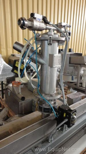 Conveyor Belt Cereal Depositor fitted with Jet Filtered Vacuum transfer vessel and Pneumatic stirrer