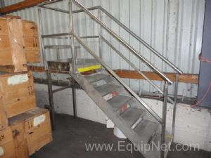 Mobile Stainless steel Platform Stairs