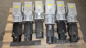 Lot of 6 off Indramat Servo Motors fitted with Stoeber Gearboxes