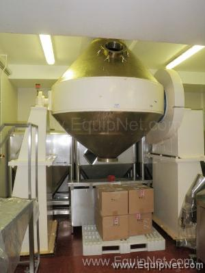Stainless Steel Double Cone Rotary Blender 100 Cubic Feet