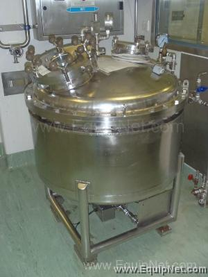 T Giusti and Sons 300 Litre Stainless Steel Jacketed Pressure Vessel with Stirrer