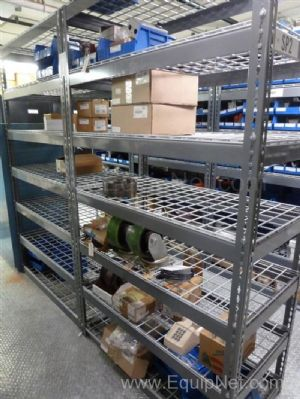 Lot of Solenoid Valves – Switches- Casters and Miscellaneous Components