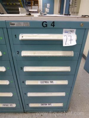 Vidmar Six Drawer Cabinet With Grease Fittings, Electrical Tape, Masking Tape And Miscellaneous