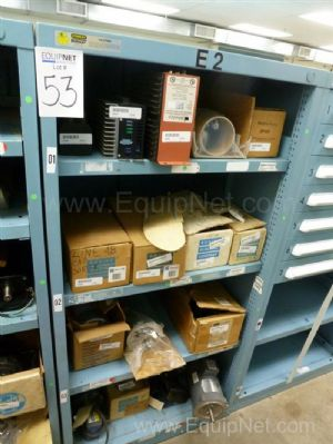 Vidmar Four Shelves No Drawers Cabinet With Motors, Gearboxes And Spare MRO