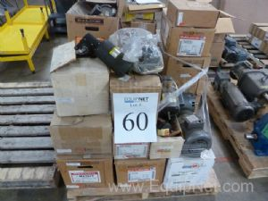 Large Lot Of Motors And Gear Boxes Most New In Boxes