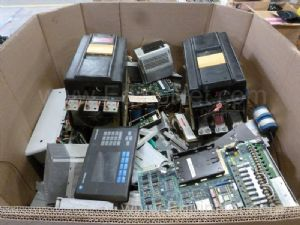 Gaylord Box With Huge Quanity Of Allen Bradley And Various Mfg. Controllers, Drives And Much Misc.