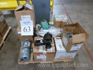 Lot Of Various Motors And Pumps Many New In Boxes