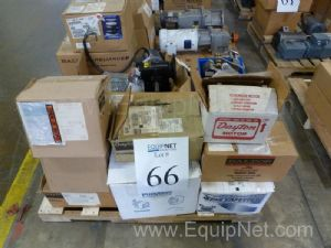 Lot Of Motors, Pumps, Gearboxes, Much Miscellaneous Some New In Boxes