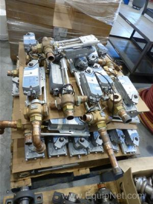 Skid of Siemens Valves Constructed Of Red Brass