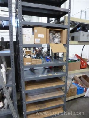 Lot of Miscellaneous Electrical Parts On Two Racks