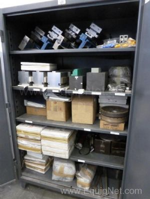 Double Door Cabinet of Miscellaneous Grinder Spares