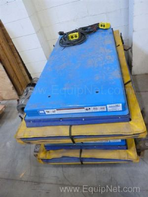 One Lot of Two Bishamon Vision Pallet positioners - Scissor Lift Tables