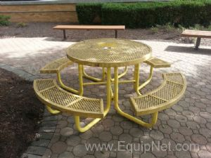 Lot of (2) Round Picnic Tables