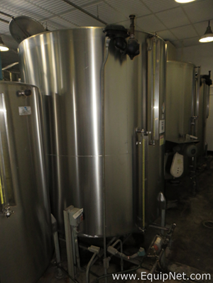 Ertel Engineering Corp. 6000 Liter Stainless Steel Tank with Bottom Side Mounted XP Agitator