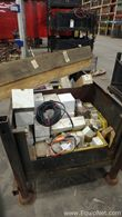 Steel Tote of Miscellaneous Electrical Equipment
