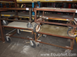 Lot of 4 Rolling Carts With 1|4 Steel Plate Top