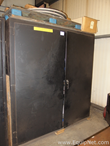 Heavy Duty Steel Storage Cabinet with Parts for Robotic Welder
