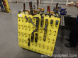 Metal Cart of Various Clamps and Angle Pieces