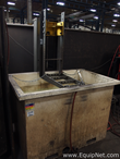 200 Gallon Steel Dip Tank with Pneumatic Lift Bracket