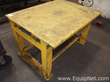 Lot of 3 Yellow Steel Tables