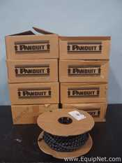 Lot of 8 Reels of Panduit T50FR-C20Y Flame Retardant Polyethylene Spiral Wrap