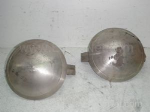 Lot of 2 Approximately 11-Inch Spherical 316-Stainless Steel Valve Disc Flappers
