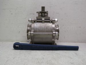 Flow Tek inch model D0012 4-inch Tri-Clamp Ball valve