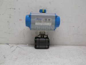 Jamesbury model VPVL200 SR4/5 Pneumatic Actuator equipped with 1-inch ball valve