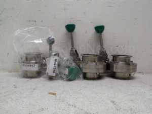 Lot of 5 various manufacturers 1-inch to 3-inch Butterfly valves and pressure relief valves