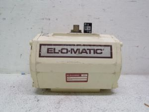 Lot of 2 El-o-matic Model DA50 Actuator with Parker Pressurizing and Purging Valve
