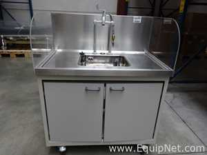 Portable Hand Washing Sink Station On Casters