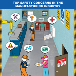 Working in manufacturing plants and other industrial facilities can pose many safety concerns. Some of these concerns include maintenance issues, permanent hazards from large equipment, general carelessness and much more.
