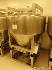 LB Bohle 1800 Liter Stainless Steel IBC Blending Bin with Glatt Discharge Valve