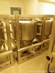 LB Bohle 600 Liter Stainless Steel IBC Blending Bin with Glatt Discharge Valve