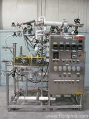 Hartel Microfiltration System On Rolling Stainless Steel Frame