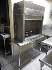 Stainless Steel Fume Hood with a S and P RF4C 180|075 Air Extraction System