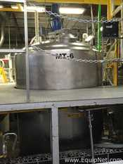 St Regis CP Division APV Crepaco 1000 Gallon Stainless Steel Jacketed Mixing Vessel