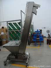 Farmomac Stainless Steel Inclined Elevator Conveyor on Casters