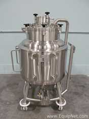 Unused Highland 250 Liter Portable Stainless Steel Dimple Jacketed Tank With Bottom Agitation