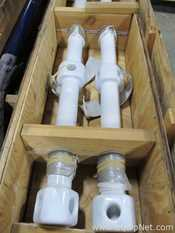 Lot of 2 Cryo Lock Glass Lined Agitator Shafts For 1000 Gallon Glass Lined Vessels