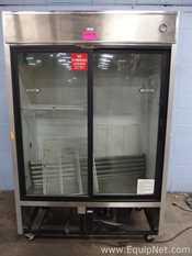 True Manufacturing  TSD-47G Double Sliding Glass Door Refrigerator