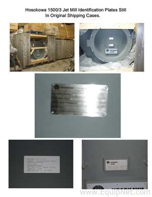 Verschiedene Mühlen Hosokawa MAF556 Hosokawa Alpine 1500 AFG Jet Mill