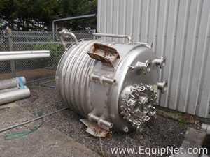 Unused Pontifex 2.5 Cubic Meters 316L Stainless Steel Limpet Coil Heated Reactor