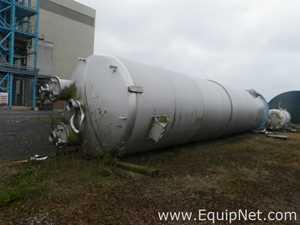 Unused Pontifex 100 Cubic Meters capacity 316L Stainless Steel Vertical Unjacketed Receiving Vessel