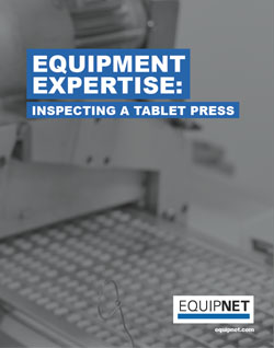 "Many of the questions our sales group fields are revolved around the basic inquiry, ""What do I look for when inspecting a used piece of equipment?"" This eBook will focus on how to properly inspect a Tablet Press."