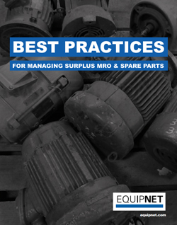 Did you know that over 50% of your MRO purchases are sitting idle? Download this eBook for the best practices on efficiently managing your surplus MRO equipment.